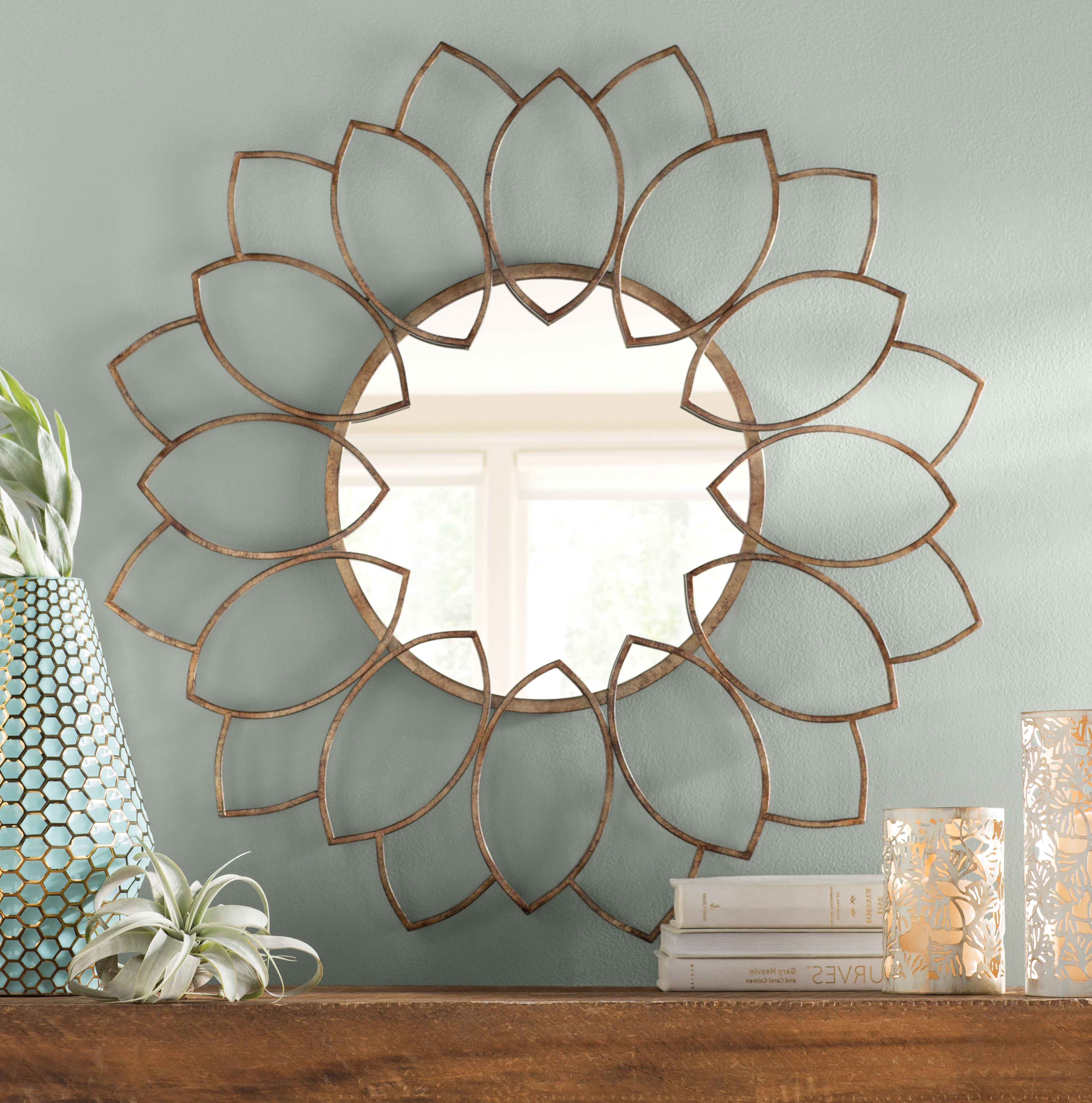 Harbert Modern And Contemporary Distressed Accent Mirrors In Trendy Brynn Accent Mirror (View 14 of 20)
