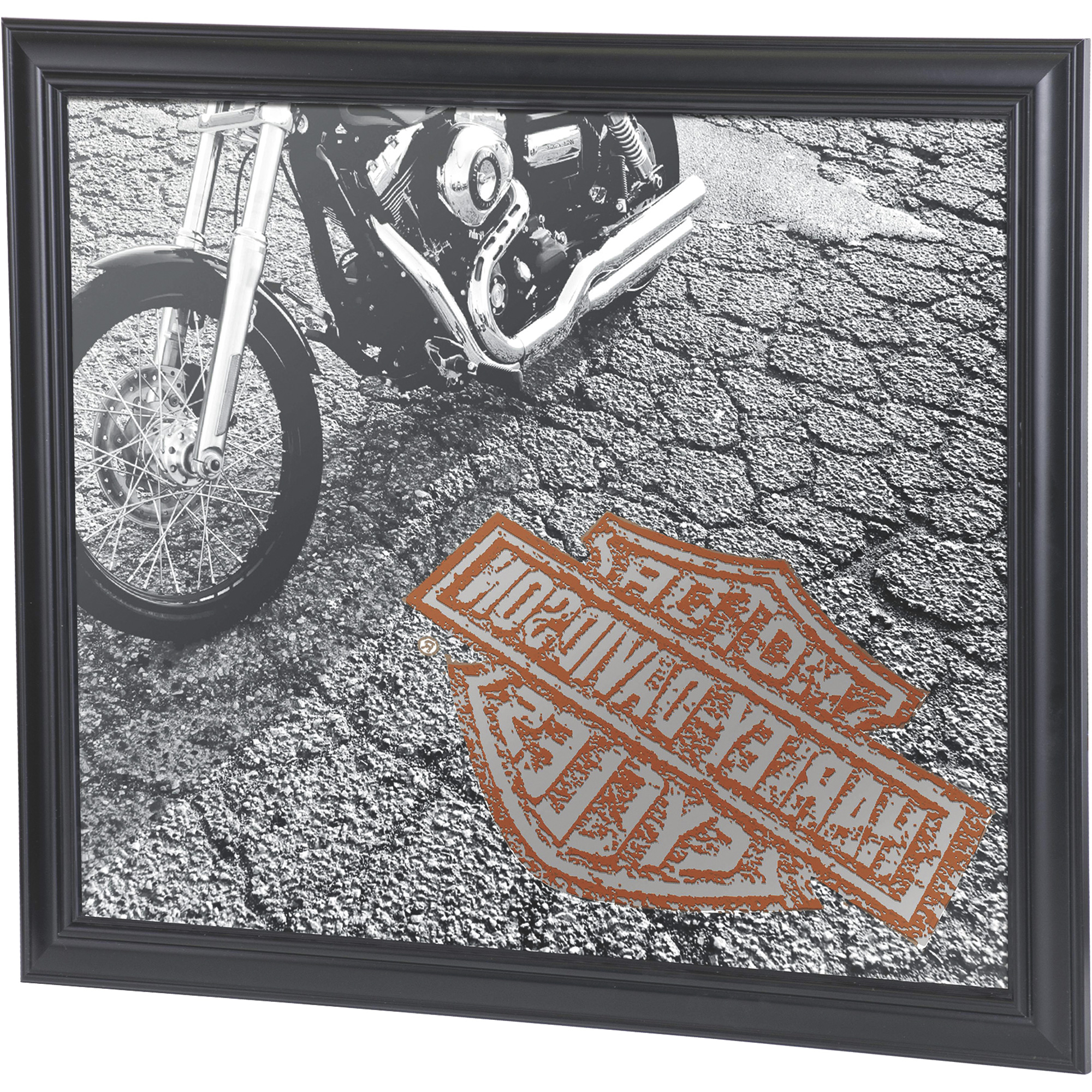 Harley Davidson Asphalt Wall Mirror With Regard To Famous Harley Davidson Wall Mirrors (View 2 of 20)