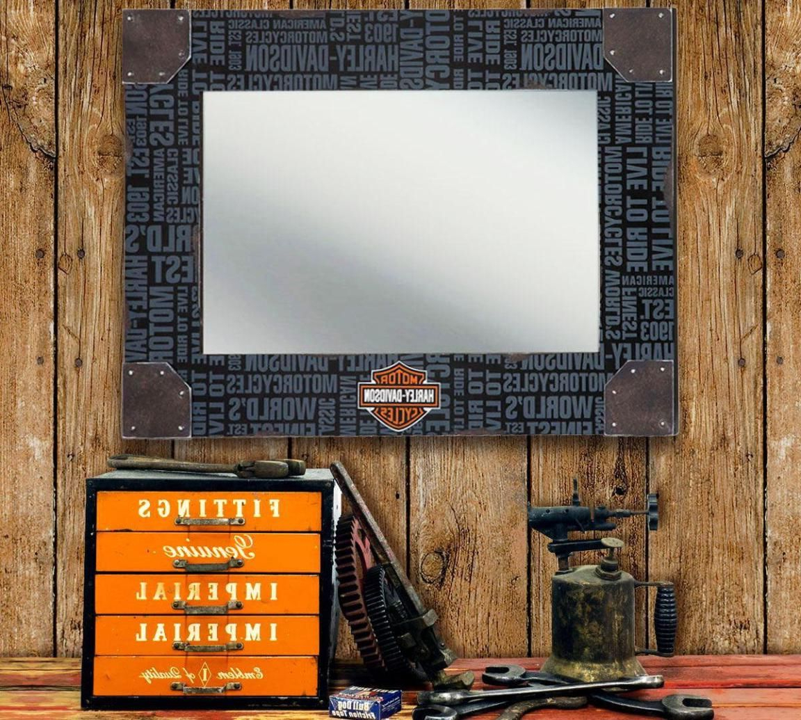 Harley Davidson Wall Mirrors Within Trendy Fascinating Harley Davidson Home Decor (Gallery 4 of 20)
