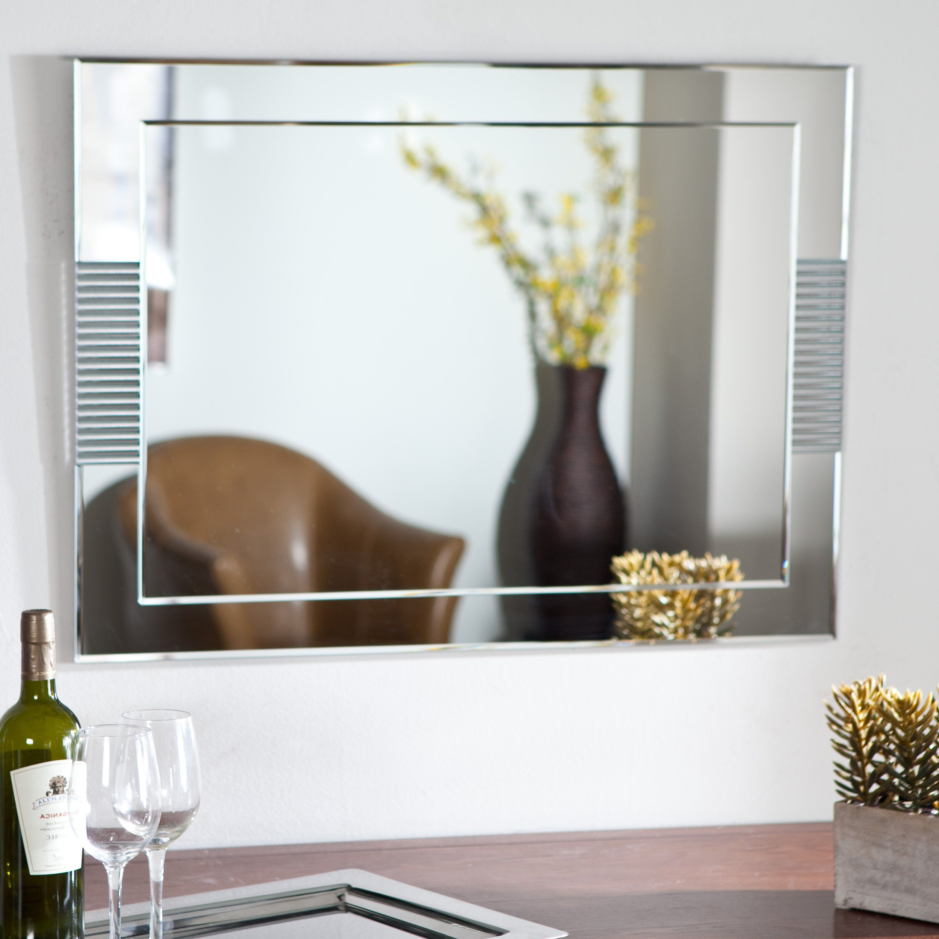 Have To Have It. Francisca Large Frameless Wall Mirror With Regard To Trendy Frameless Large Wall Mirrors (Gallery 3 of 20)