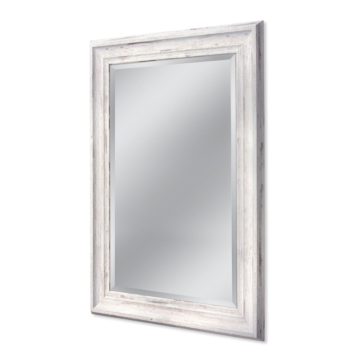 Headwest 31 X 43 Frarmhouse White Wall Mirror – 31 X 43 Inside Most Up To Date White Framed Wall Mirrors (View 18 of 20)