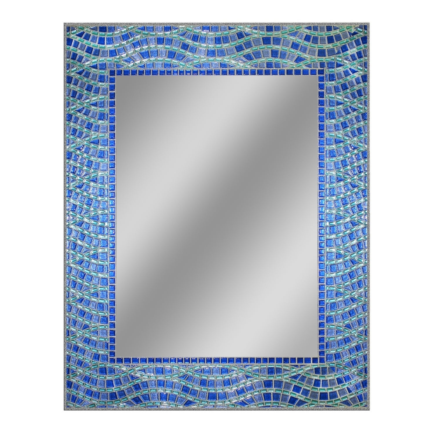 Headwest Blue Ocean Wall Mirror – Blue/green – 24 X 30 Pertaining To Preferred Blue Wall Mirrors (Gallery 6 of 20)