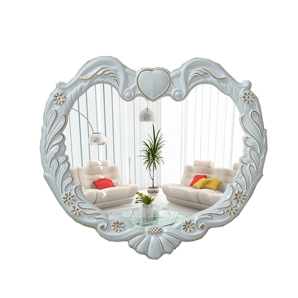 Heart Shaped Wall Mirrors For Well Liked Amazon: Mirror Heart Shaped Living Room Bathroom Wall Mirror (View 9 of 20)