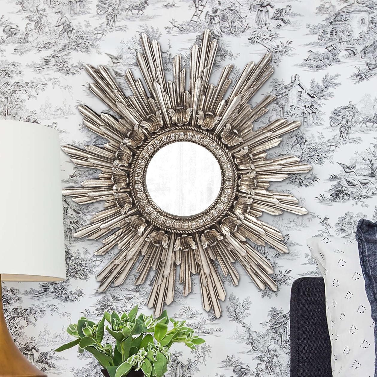 Heffington Starburst Accent Mirror Within Popular Josephson Starburst Glam Beveled Accent Wall Mirrors (Gallery 12 of 20)