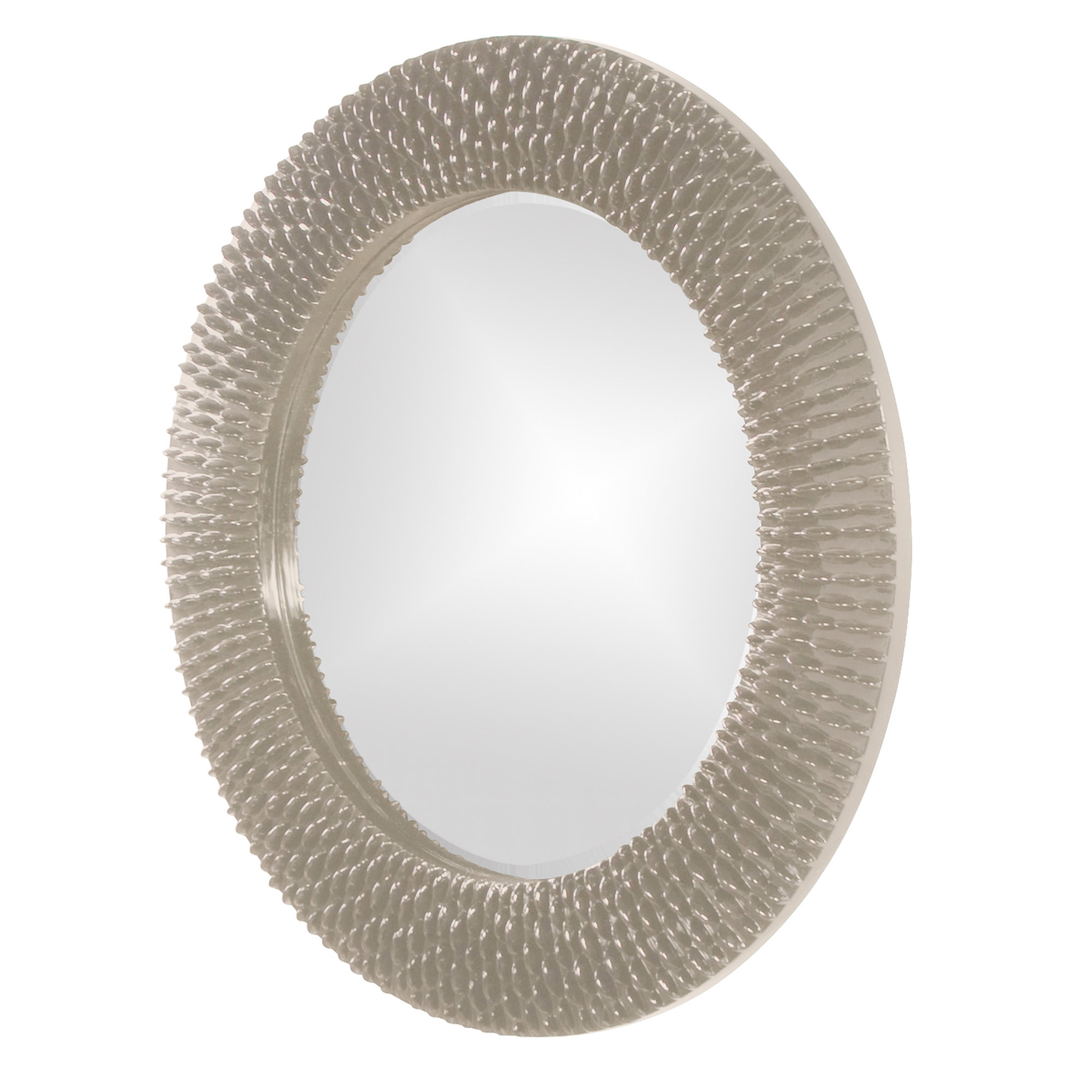 Hengelo Wall Mirror With Regard To Popular Point Reyes Molten Round Wall Mirrors (Gallery 13 of 20)