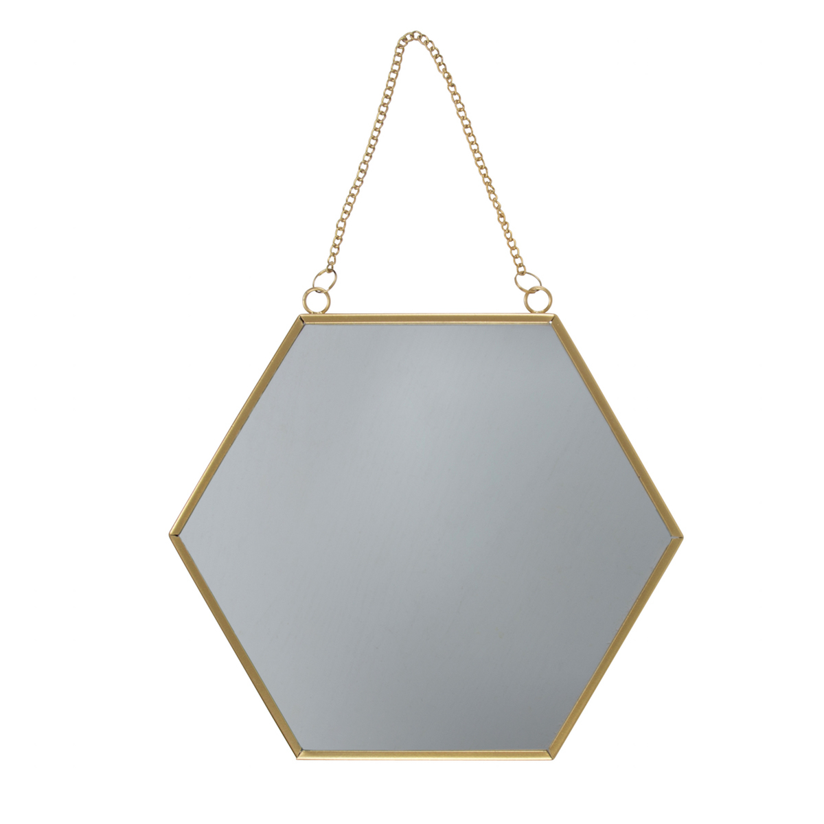 Hexagon Wall Mirrors With Regard To Well Liked Gold Hexagon Wall Mirror (Gallery 20 of 20)
