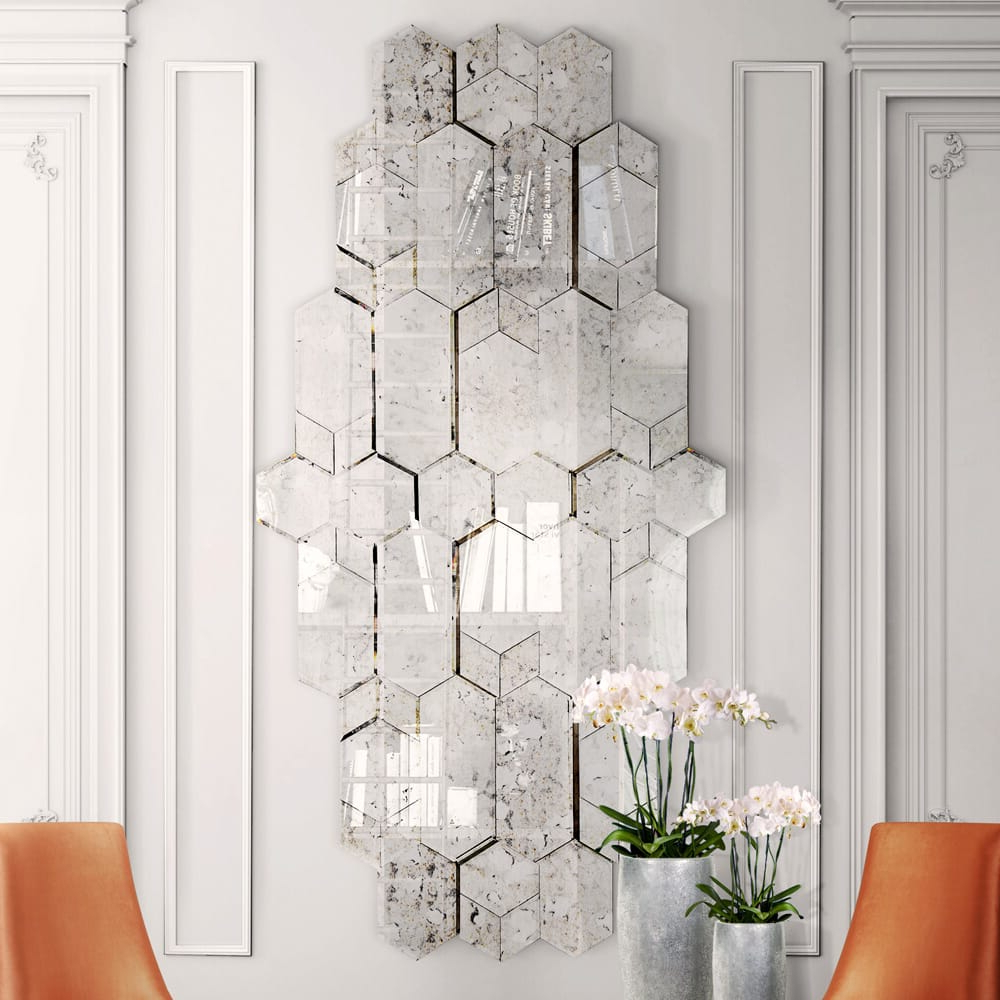High End Large Designer Geometric Multi Layered Wall Mirror Pertaining To Newest High End Wall Mirrors (View 8 of 20)