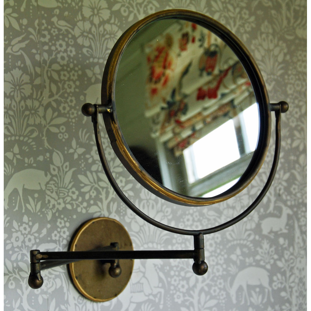 Hinged Wall Mirrors Regarding Trendy Round Alexander Antique Vintage Hinged Bathroom Wall Mirror (Gallery 13 of 20)