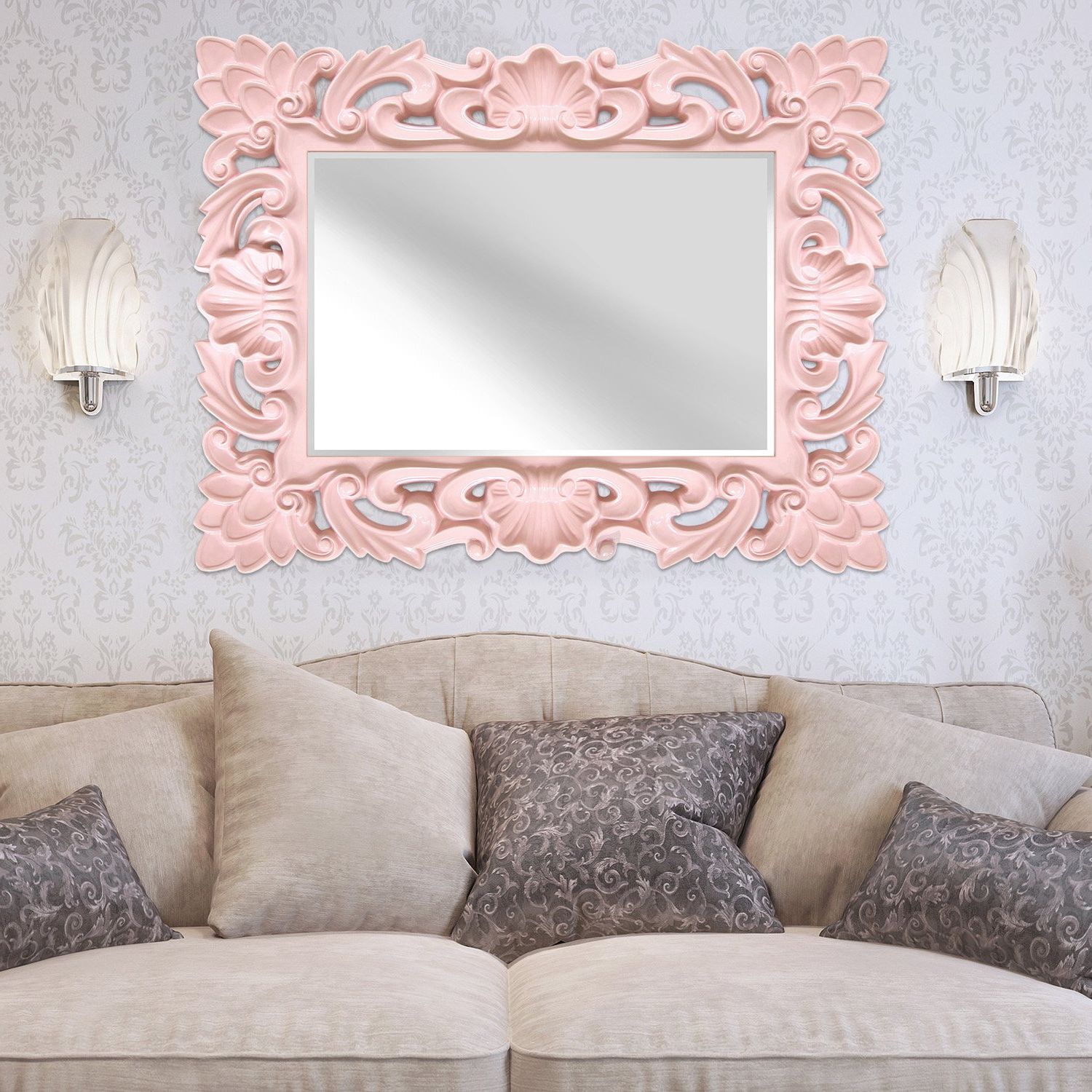 Home Decor Regarding Trendy Pink Wall Mirrors (Gallery 7 of 20)