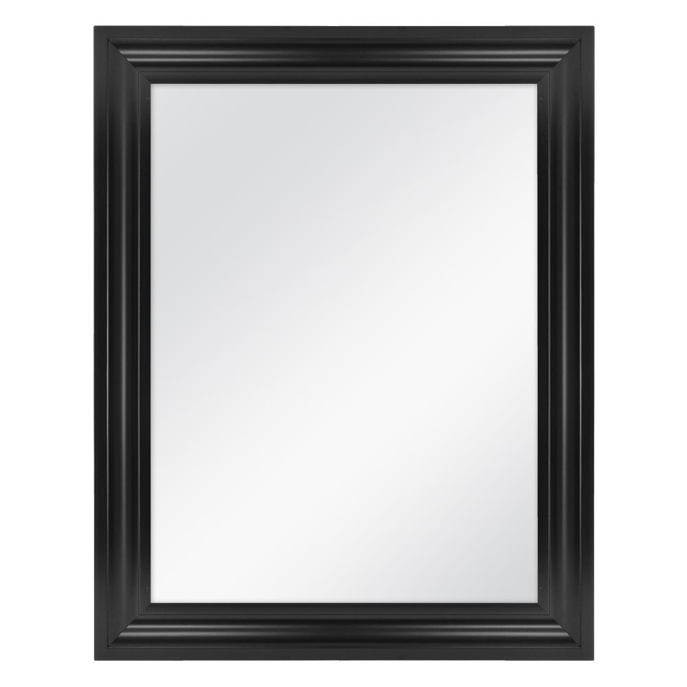 Home Decorators Collection 22 In. W X 29 In. L Framed Fog Free Wall Mirror In Black Inside Newest Black Frame Wall Mirrors (Gallery 9 of 20)