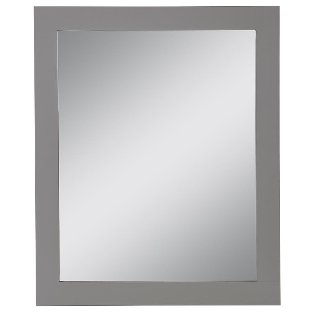 Home Decorators Collection 25.67 In. W X 31.38 In. H Framed Wall Mirror In  Sterling Gray For Well Known Gray Wall Mirrors (Gallery 7 of 20)