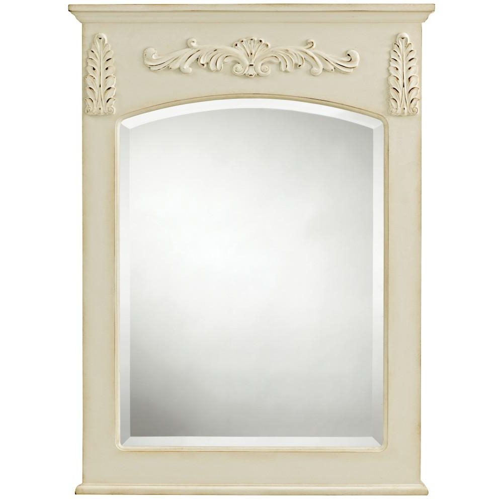 Home Decorators Collection Chelsea 26 In. W X 35 In. L Framed Wall Mirror  In Antique White For Famous Antique Wall Mirrors (Gallery 20 of 20)