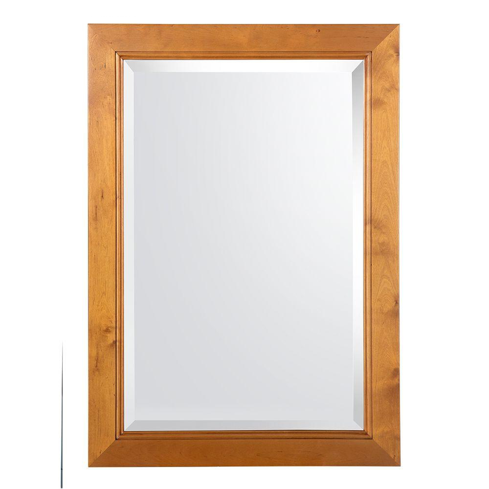Home Decorators Collection Exhibit 34 In. L X 24 In. W Wall Mirror In Rich  Cinnamon In Trendy Orange Framed Wall Mirrors (Gallery 16 of 20)