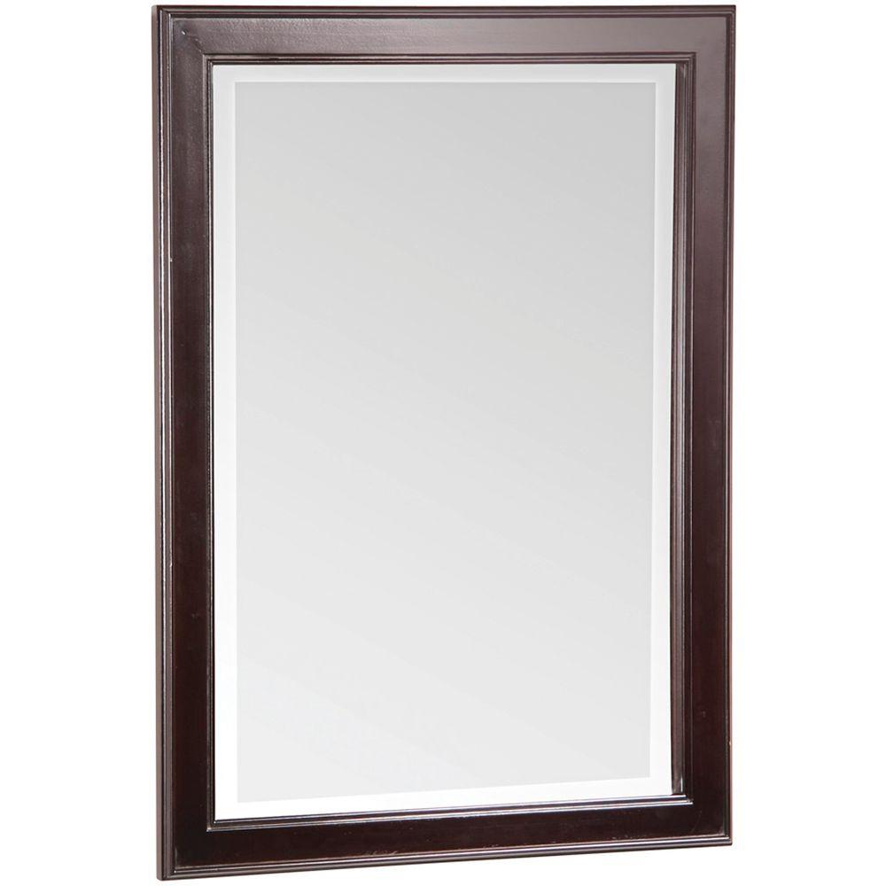 Home Decorators Collection Gazette 24 In. X 32 In. Wall Mirror In Espresso With Widely Used Espresso Wall Mirrors (Gallery 6 of 20)