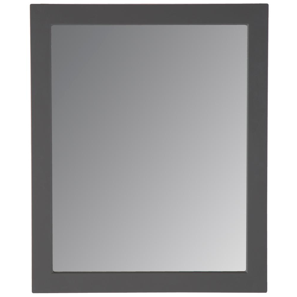 Home Decorators Collection Thornbriar 26 In. W X 31 In. H Single Framed Wall Mirror In Cement Throughout Popular Gray Wall Mirrors (Gallery 20 of 20)