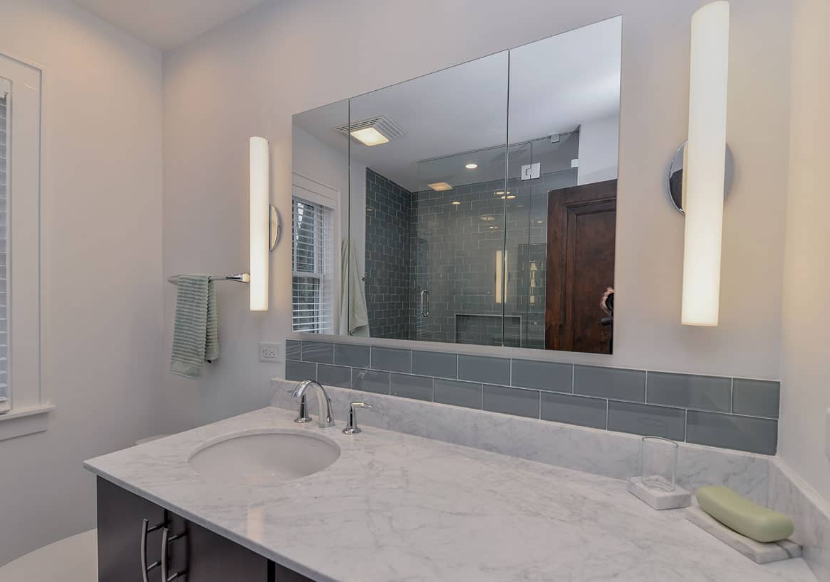 Home Remodeling Pertaining To Bathroom Full Wall Mirrors (View 5 of 20)