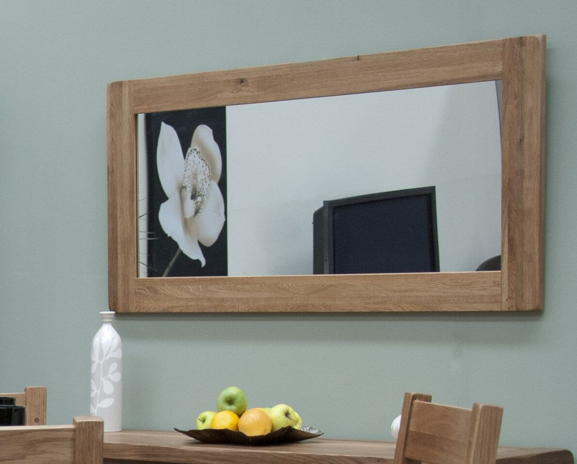 Homestyle Rustic Solid Oak Large Wall Mirror Inside Recent Large Rustic Wall Mirrors (View 14 of 20)