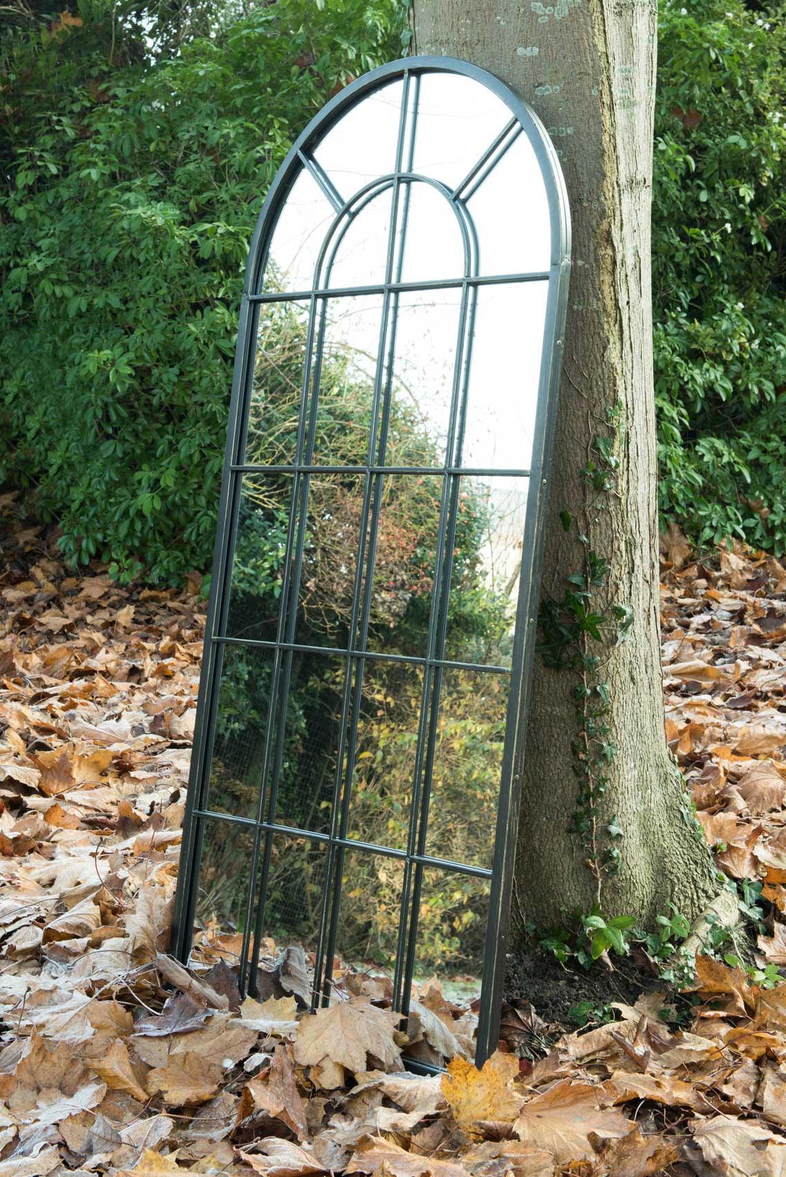 Honiton Black Victorian Indoor Outdoor Garden Wall Mirror 140X65 Cm Regarding Latest Outdoor Garden Wall Mirrors (Gallery 12 of 20)