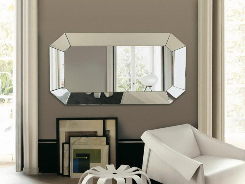 Horizontal Decorative Wall Mirrors Black : Horizontal Decorative Pertaining To Widely Used Decorative Wall Mirrors For Living Room (Gallery 5 of 20)