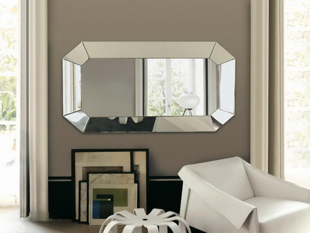 Horizontal Decorative Wall Mirrors Intended For Most Current Horizontal Decorative Wall Mirrors Black : Horizontal Decorative (Gallery 1 of 20)
