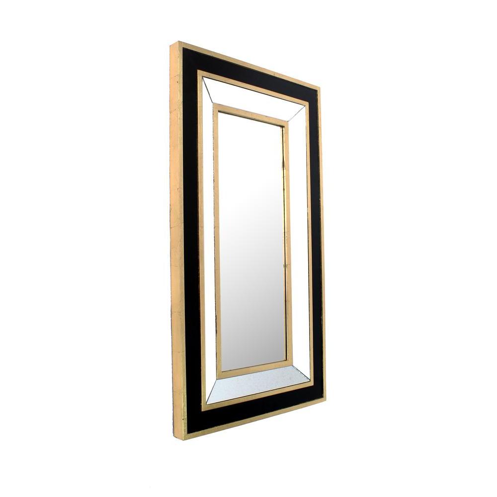 Horizontal Decorative Wall Mirrors With Regard To 2020 Black Gold Decorative Wall Mirror (View 4 of 20)