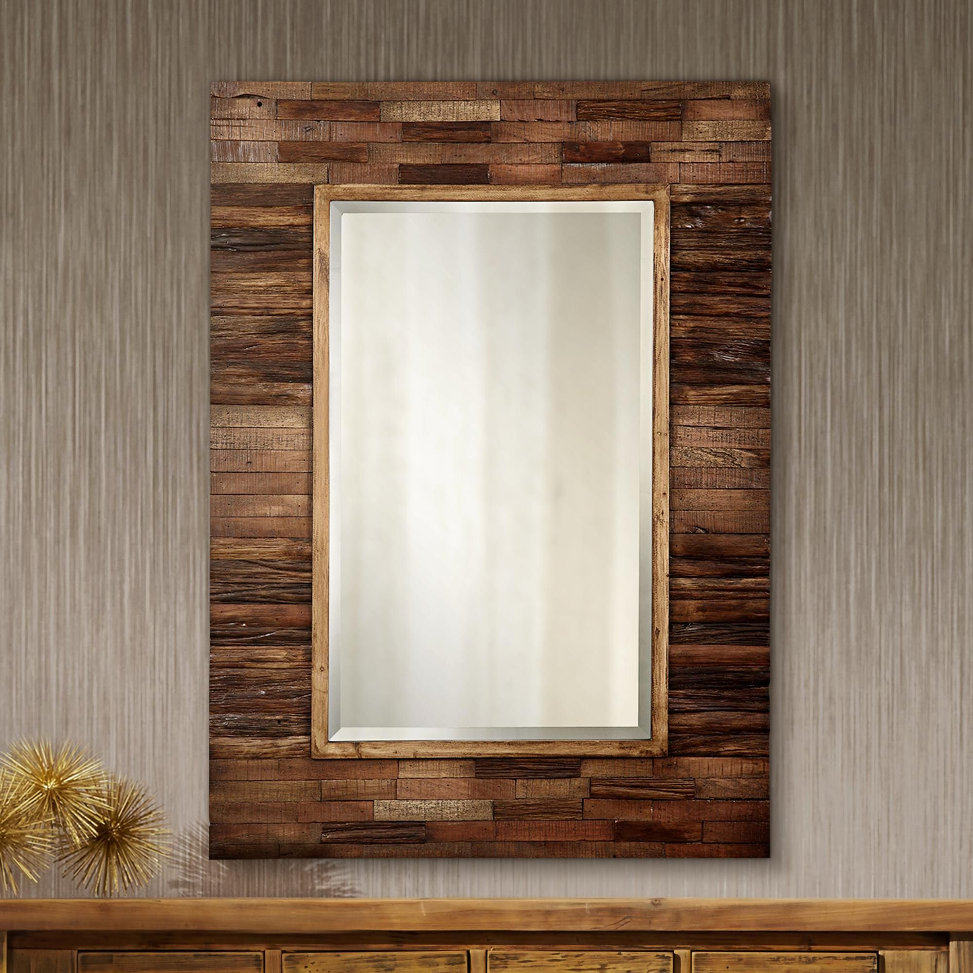 House For Booth Reclaimed Wall Mirrors Accent (Gallery 8 of 20)