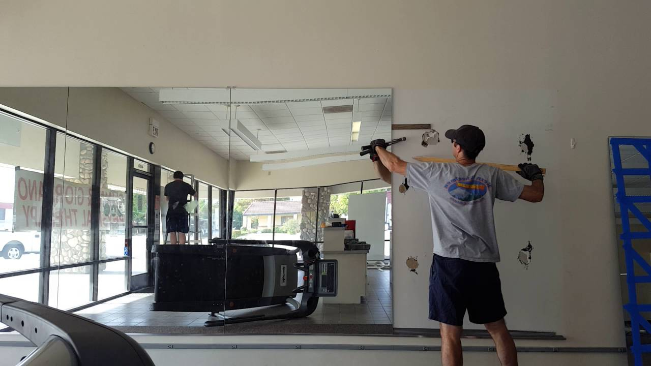 How To Remove Glued Mirrors From A Wall Regarding Most Recent Large Wall Mirrors For Gym (View 15 of 20)