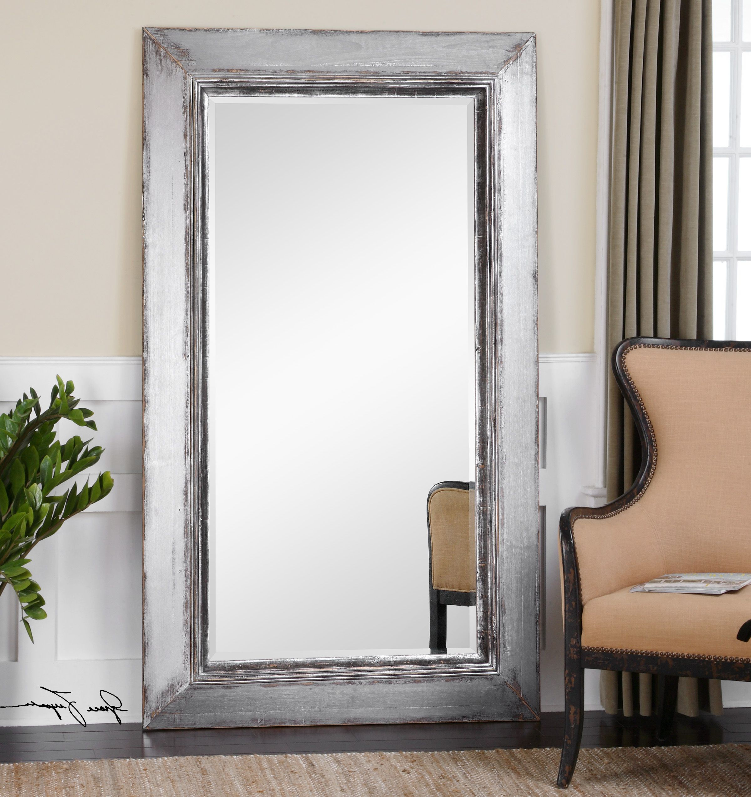 How To Secure A Leaning Mirror Within Popular Leaning Wall Mirrors (View 14 of 20)