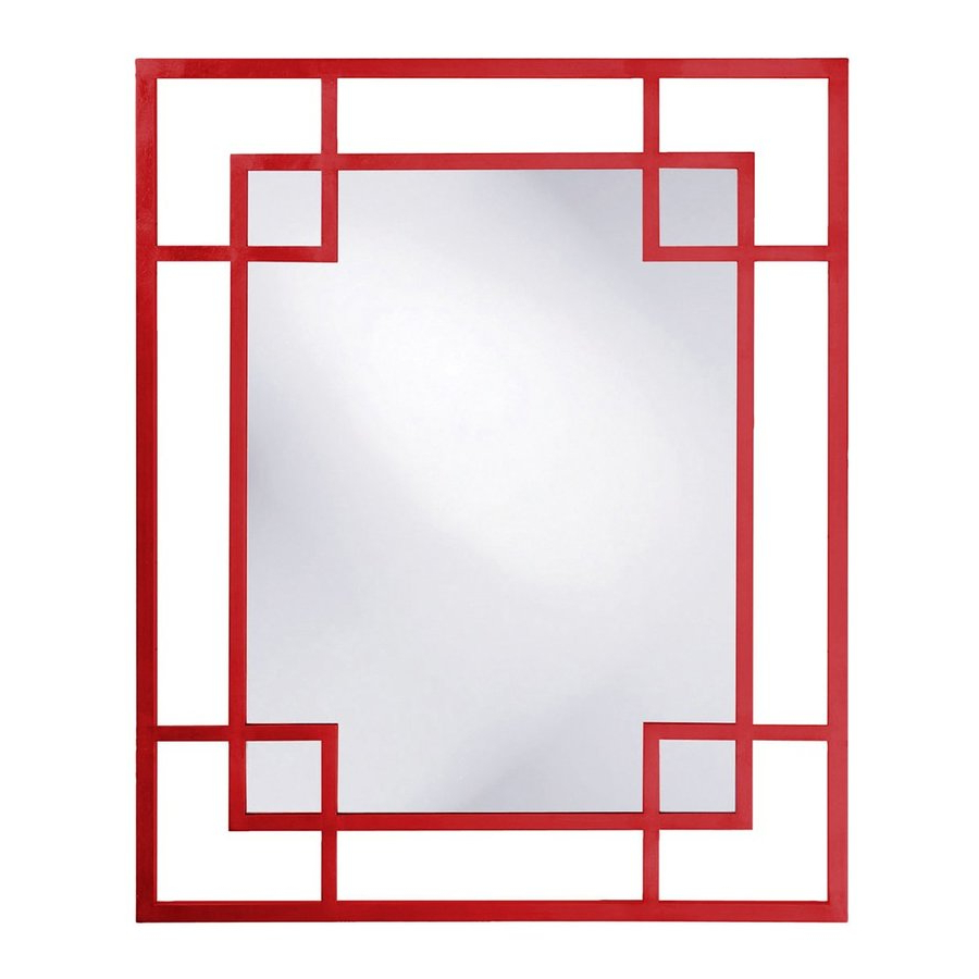Howard Elliott Lois Red Framed Wall Mirror At Lowes For Most Recent Red Framed Wall Mirrors (View 14 of 20)