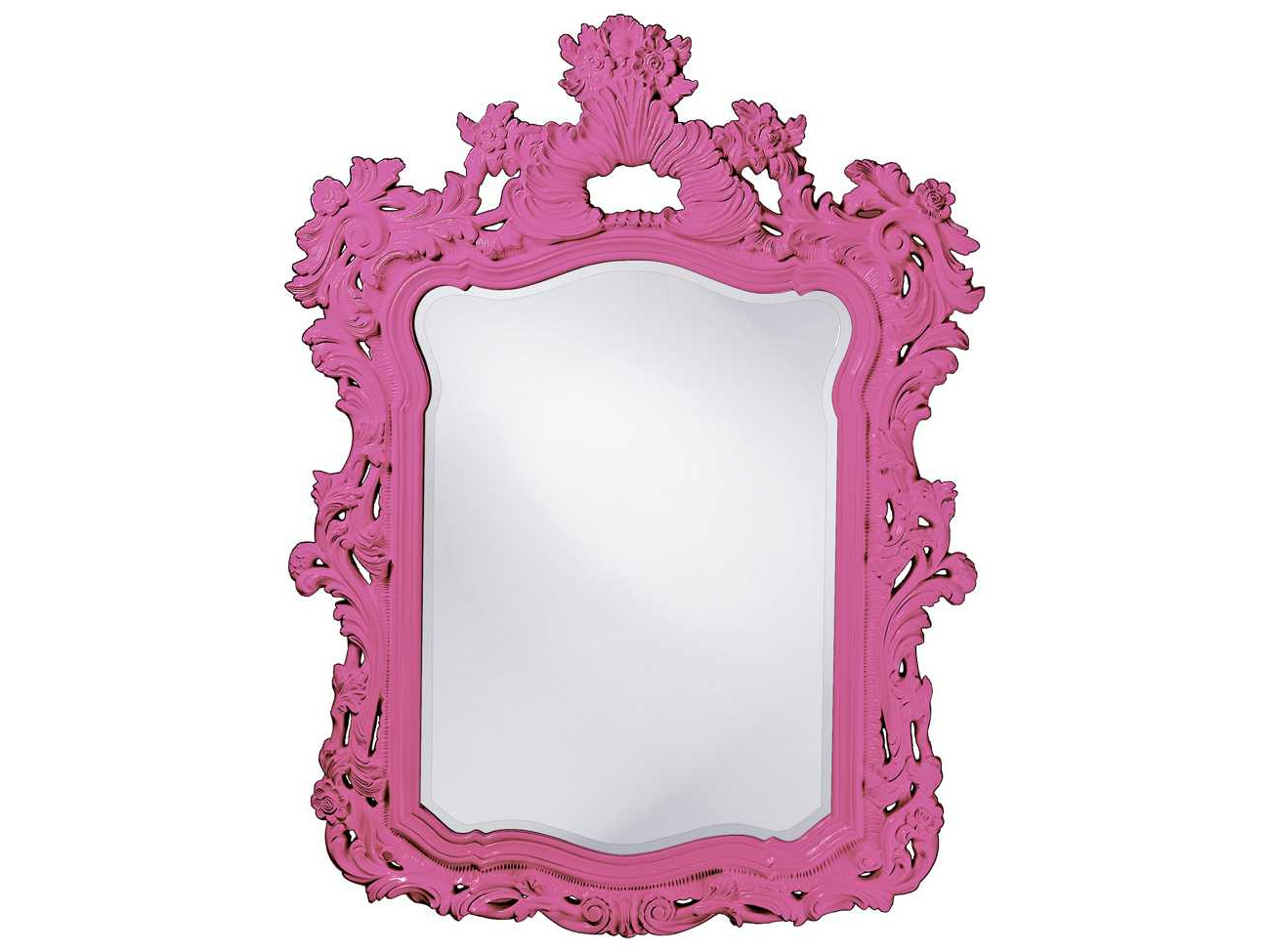 Howard Elliott Turner 42 X 56 Hot Pink Wall Mirror With Regard To Well Liked Pink Wall Mirrors (Gallery 16 of 20)