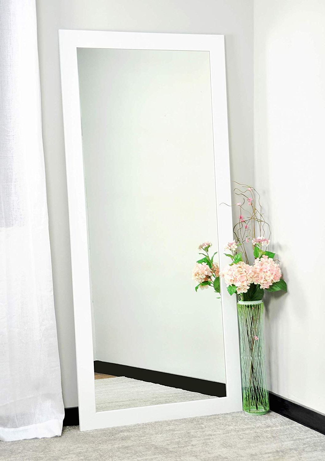 "Huge Wall Mirrors With Favorite Brandtworks, Llc Bm003t Oversized Wall Mirror, 32"" X 71"", White,32"" X 71"" (View 5 of 20)"