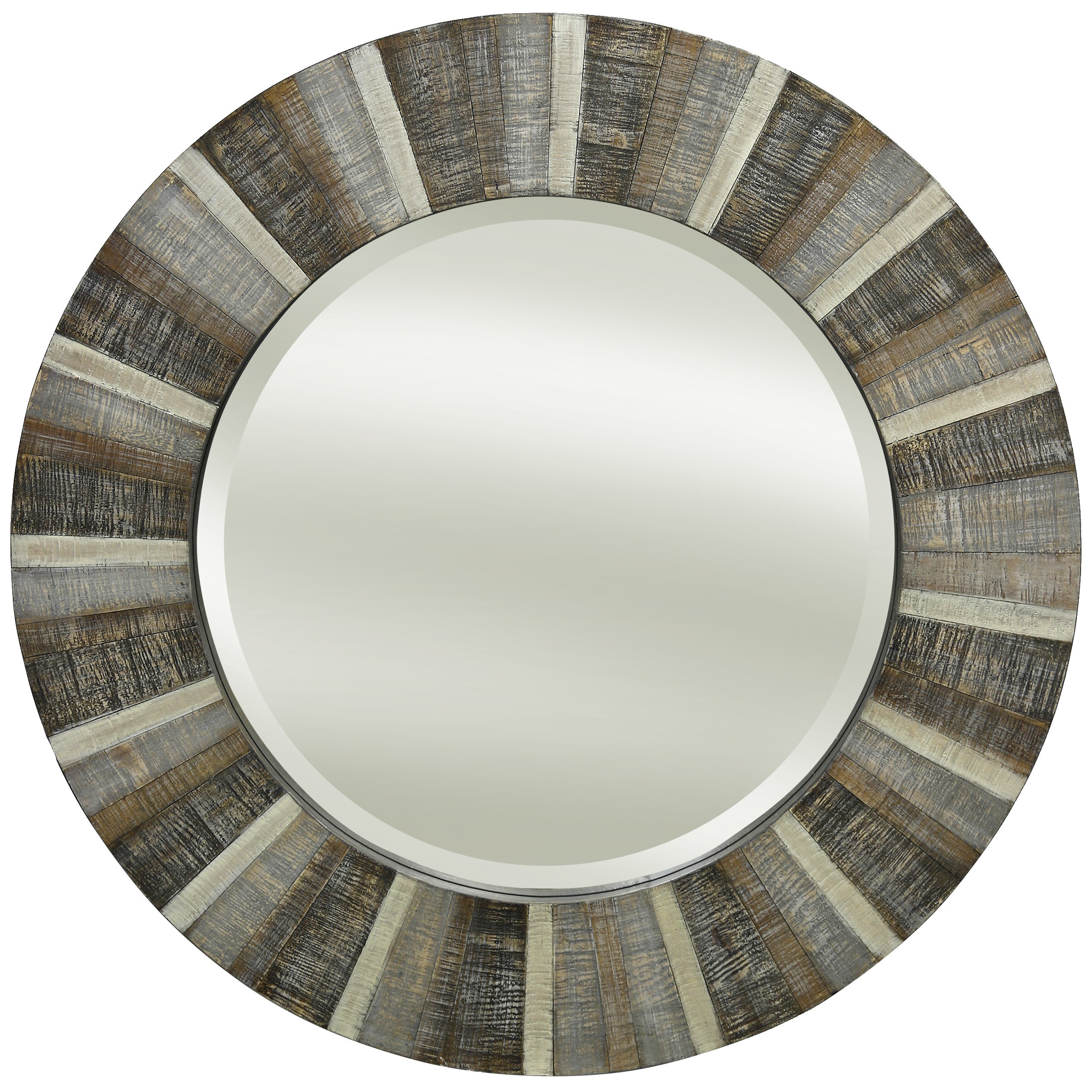 Hughley Natural Wood Wall Coastal Accent Mirror Inside Most Up To Date Hussain Tile Accent Wall Mirrors (View 14 of 20)