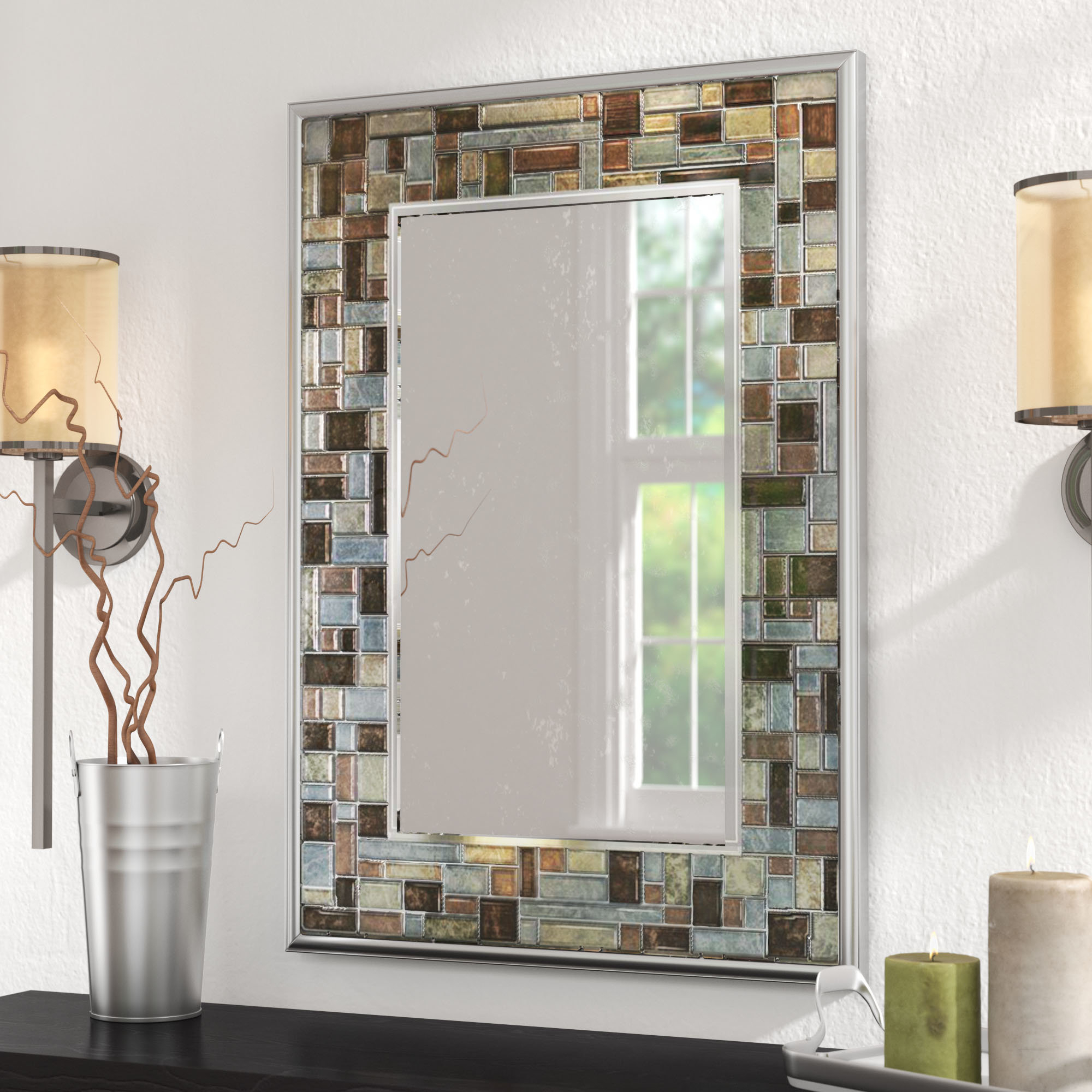 Featured Photo of Hussain Tile Accent Wall Mirrors