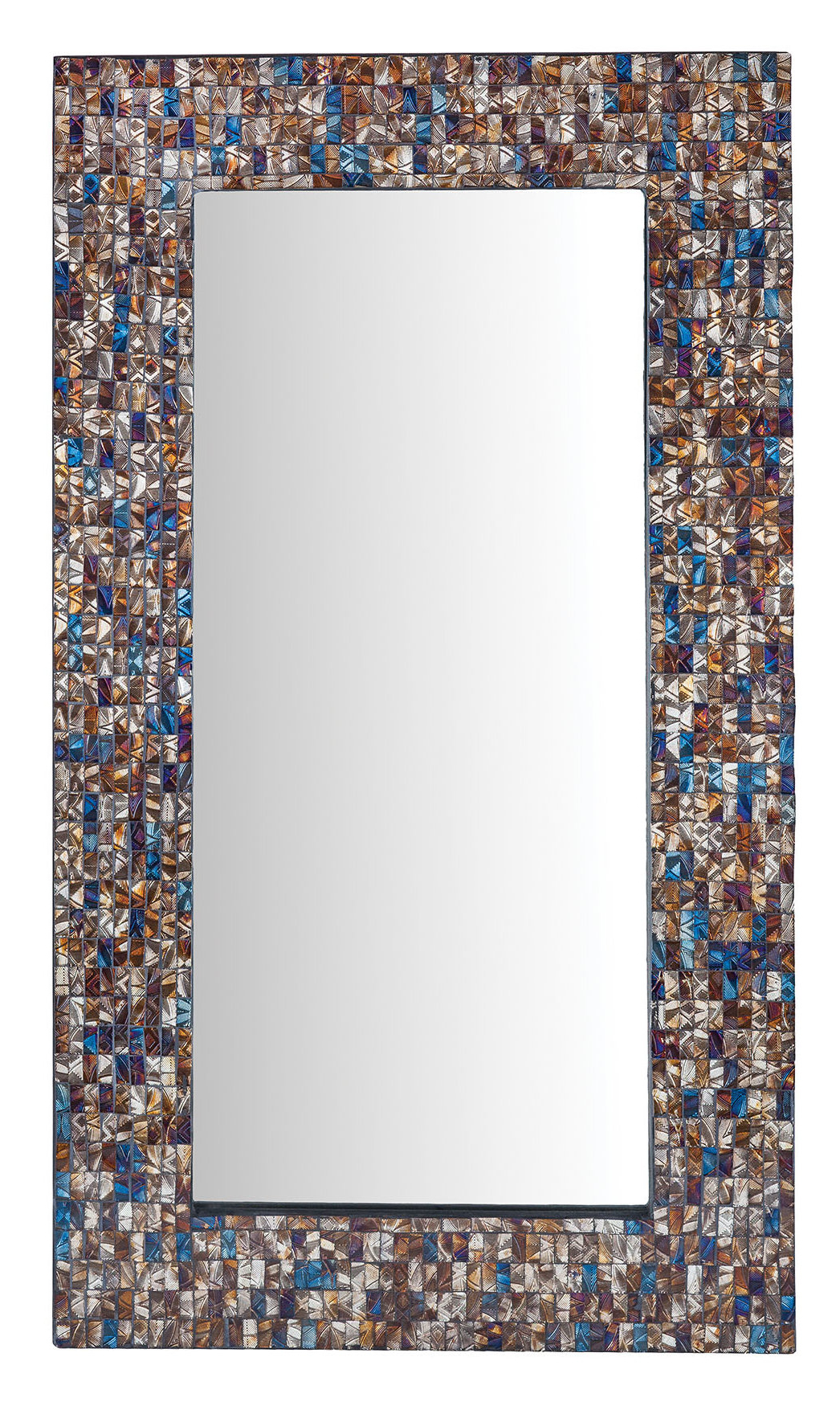 Hussain Tile Accent Wall Mirrors With Best And Newest Vredenburgh Hand Inlaid Glass Accent Wall Mirror (View 8 of 20)