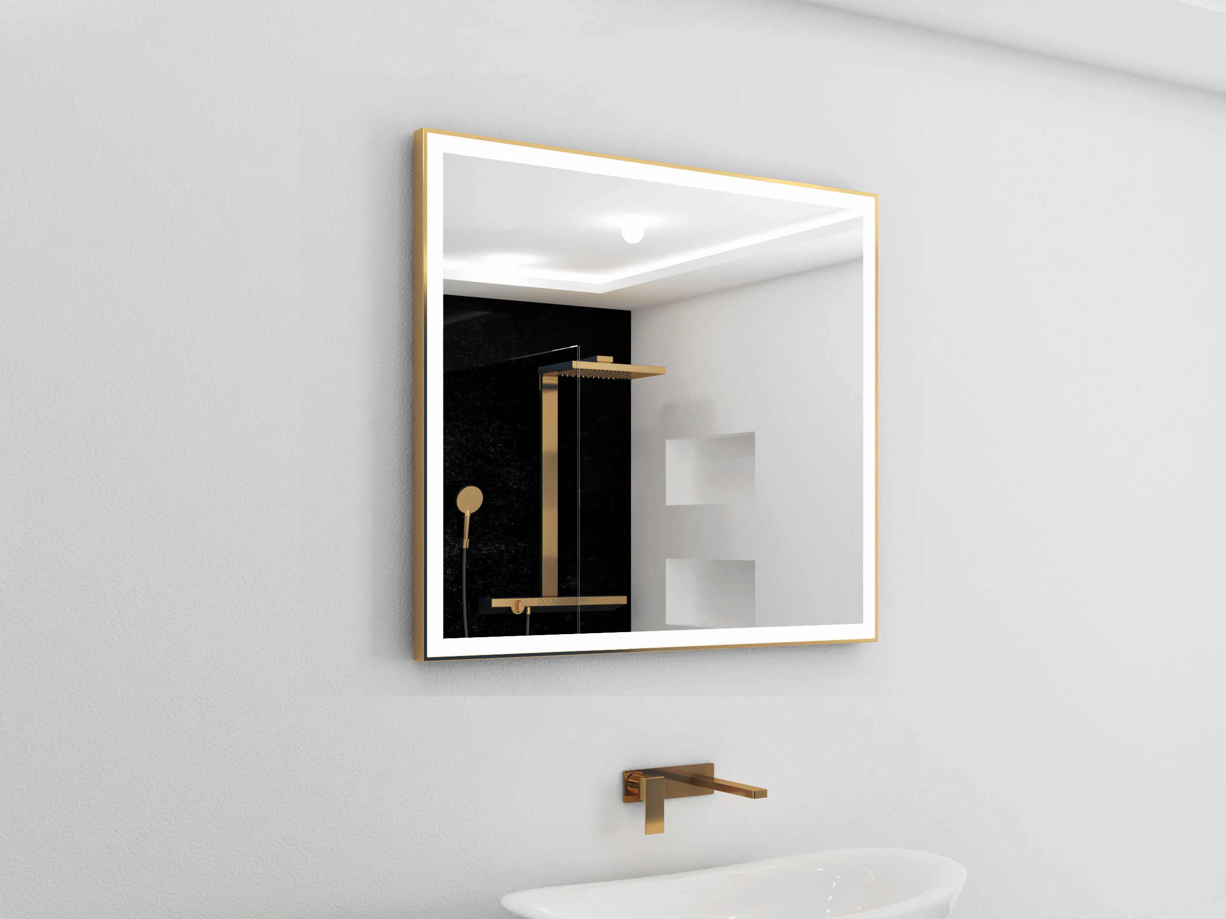 Ibmirror – Modern Lighted Bathroom Mirror – Backlit Bathroom Mirror Inside Most Recently Released Lighted Bathroom Wall Mirrors (View 19 of 20)
