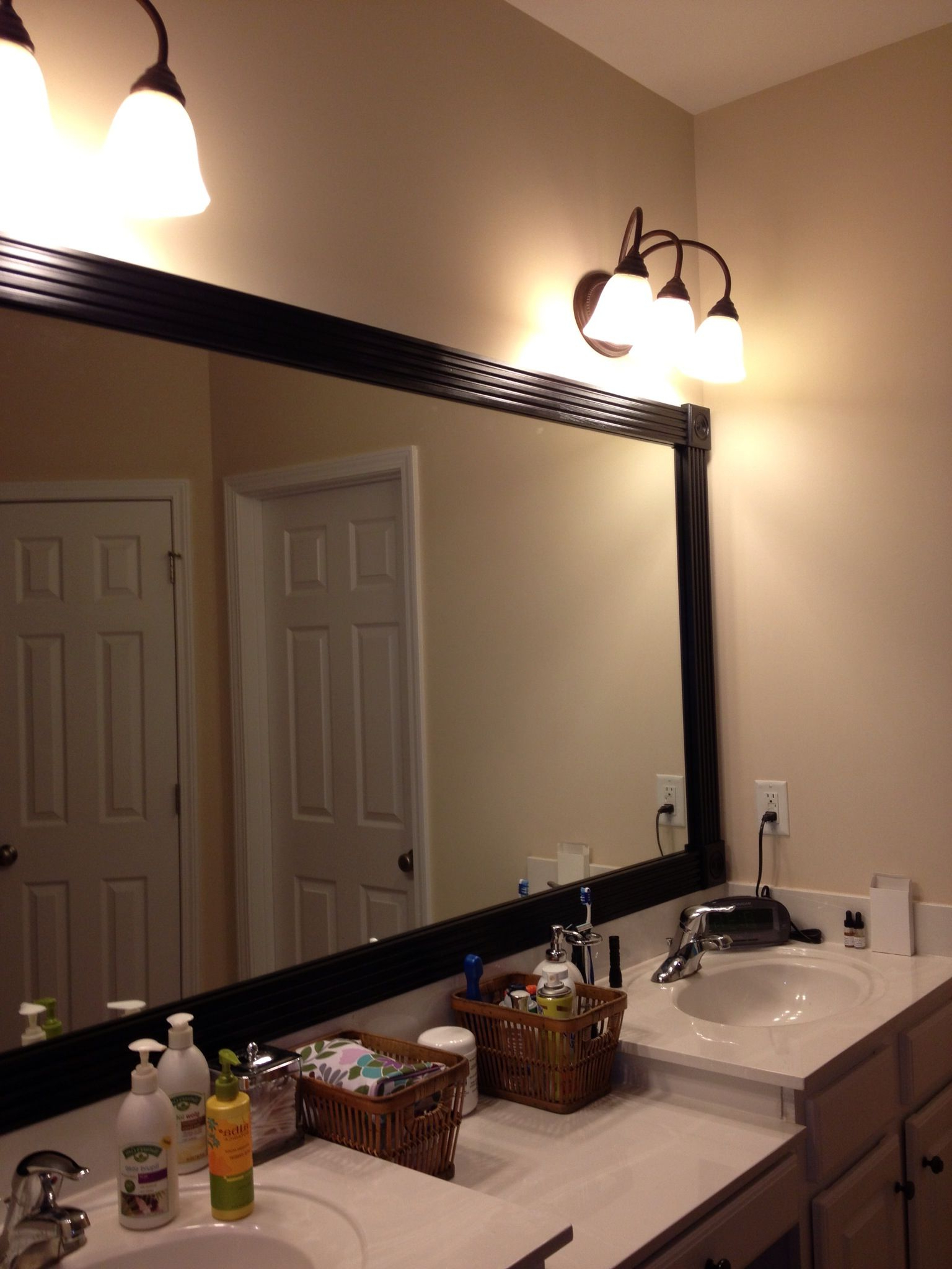Ideas I Stole From Pinterest And Actually Inside Large Framed Wall Mirrors (View 8 of 20)