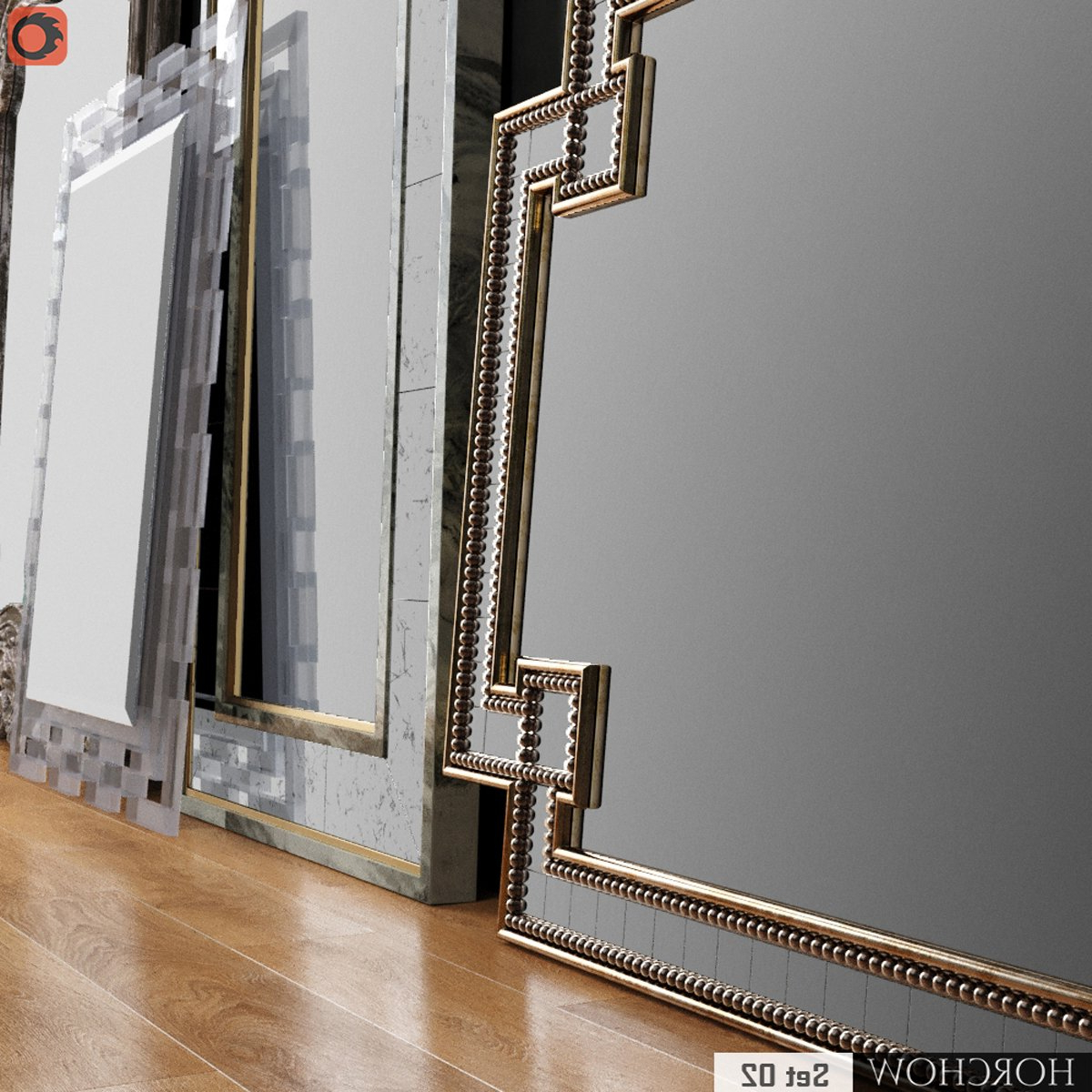 Ideas: Setting Your Interior With Cool Horchow Mirrors Design Ideas Within 2019 Black And Gold Wall Mirrors (View 19 of 20)