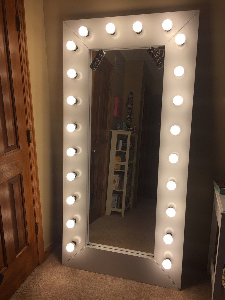 Ikea Full Length Wall Mirrors Pertaining To Most Recent Full Length Vanity/ Selfie Mirror With Lights (View 5 of 20)