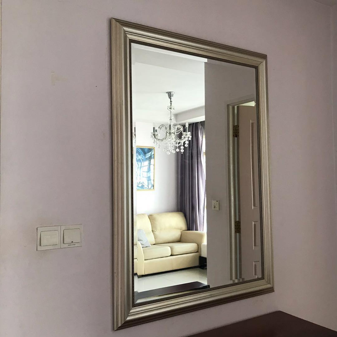 Ikea Wall Mirror With Silver Frame, Furniture, Home Decor With Regard To 2020 Ikea Large Wall Mirrors (View 10 of 20)