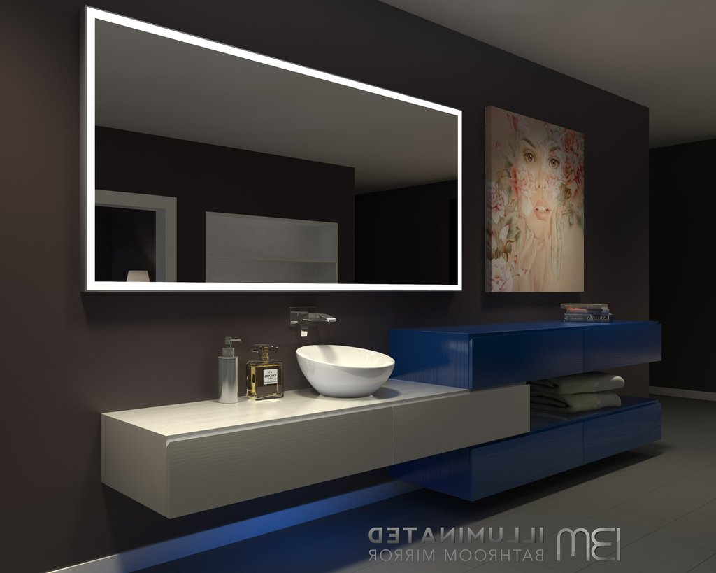 Illuminated Wall Mirrors For Bathroom With Regard To Most Recently Released Lighted Wall Mirrors For Bathrooms Choosing The Best For Your Home (View 10 of 20)