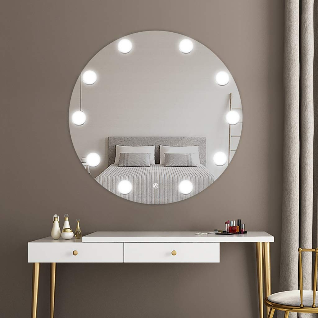 Illuminated Wall Mirrors For Latest Amazon : Sdk Round Bathroom Mirror Led Illuminated Wall (View 6 of 20)