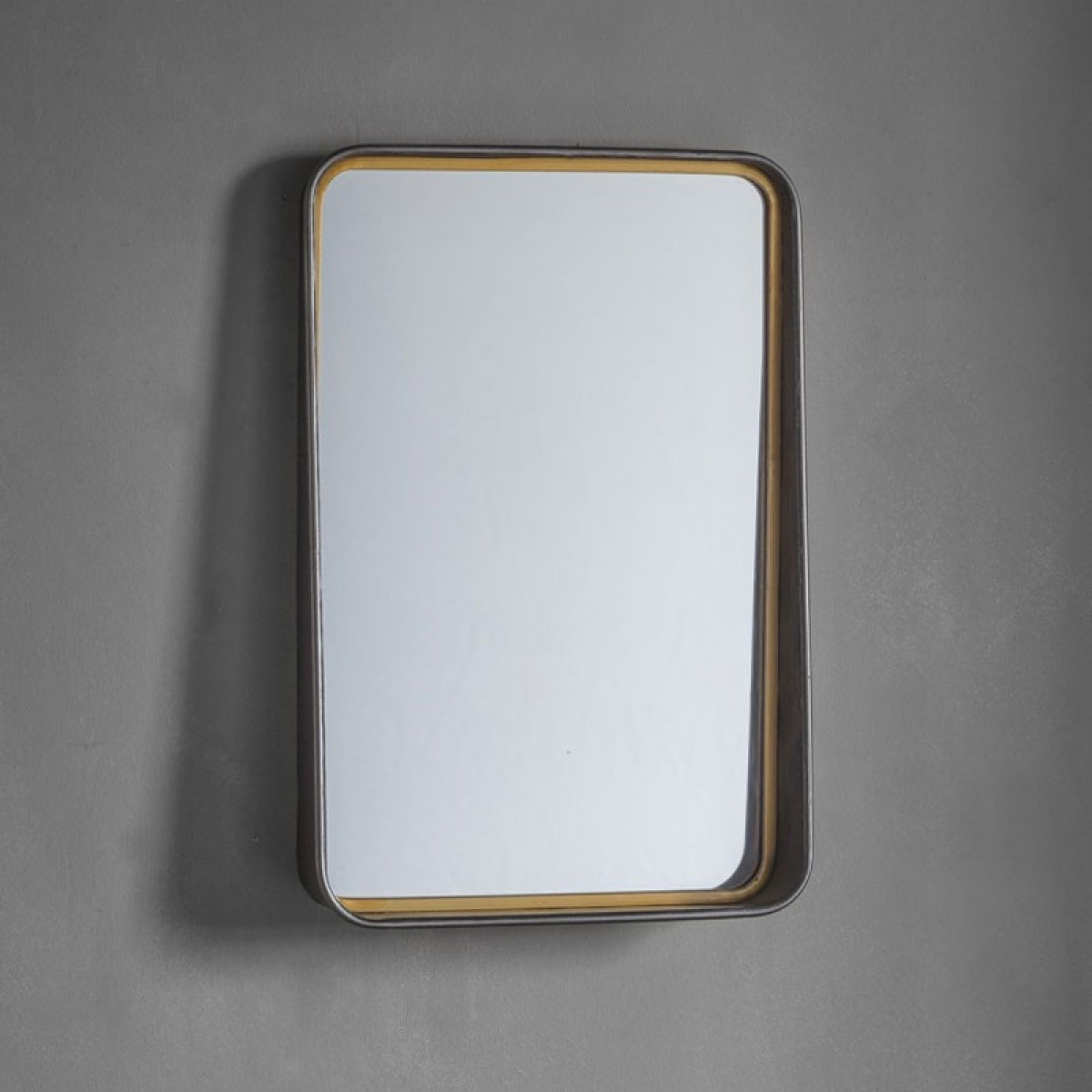 Industrial Framed Wall Mirror – 38 X 57cm Within Most Up To Date Red Framed Wall Mirrors (View 20 of 20)