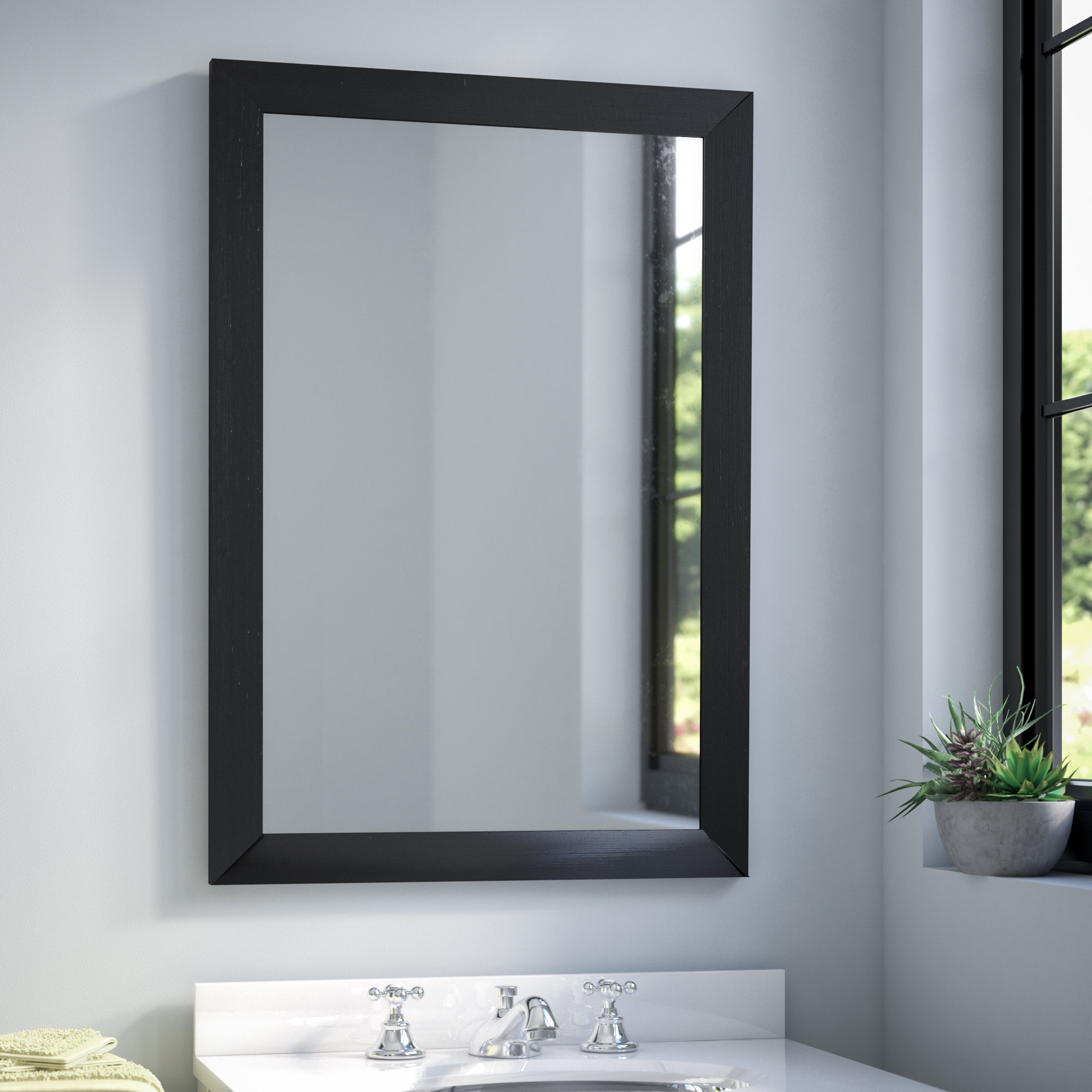 Industrial Modern & Contemporary Wall Mirror With Regard To Well Liked Peetz Modern Rustic Accent Mirrors (View 6 of 20)