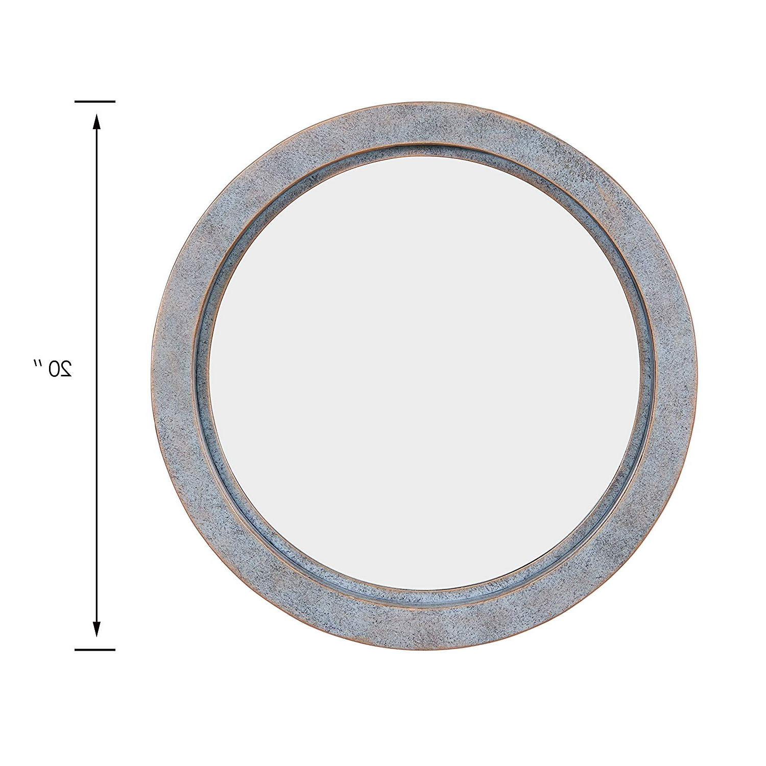 Industrial Modern & Contemporary Wall Mirrors In Widely Used Danya B. Fhb1715 Modern Industrial Floating Round 20 Inch Wall Mirror With  Antiqued Copper Metal Frame – Contemporary Framed Hanging Mirror (Gallery 8 of 20)