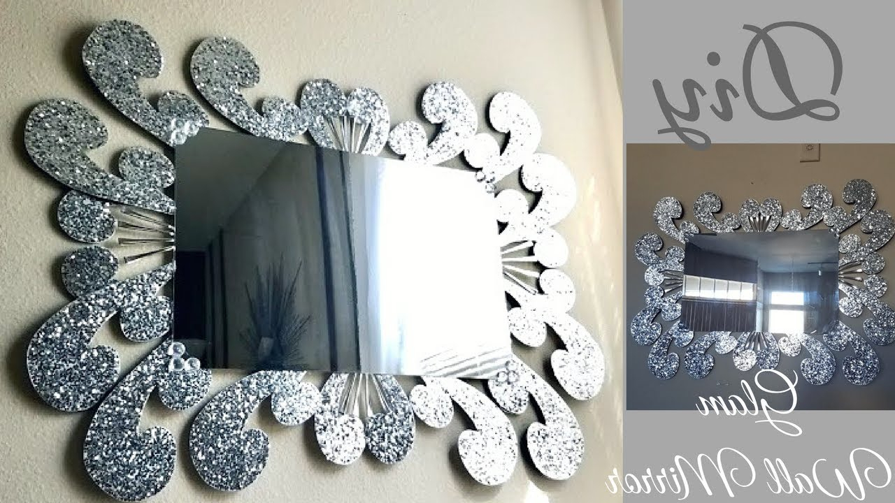 Inexpensive Large Wall Mirrors With Regard To Most Current Diy Large Glam Wall Mirror Decor (Gallery 8 of 20)