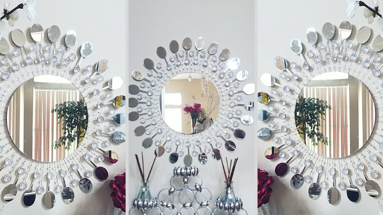 Inexpensive Wall Decorating Idea! Within Decorating Wall Mirrors (Gallery 5 of 20)