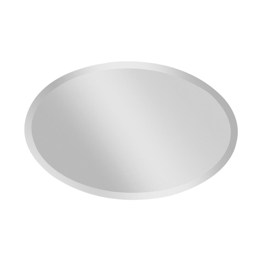 Infinity Frameless Wall Mirrors Regarding Trendy Feiss Infinity 24 In. W X 36 In. H Frameless Oval Glass Wall Décor (Gallery 15 of 20)