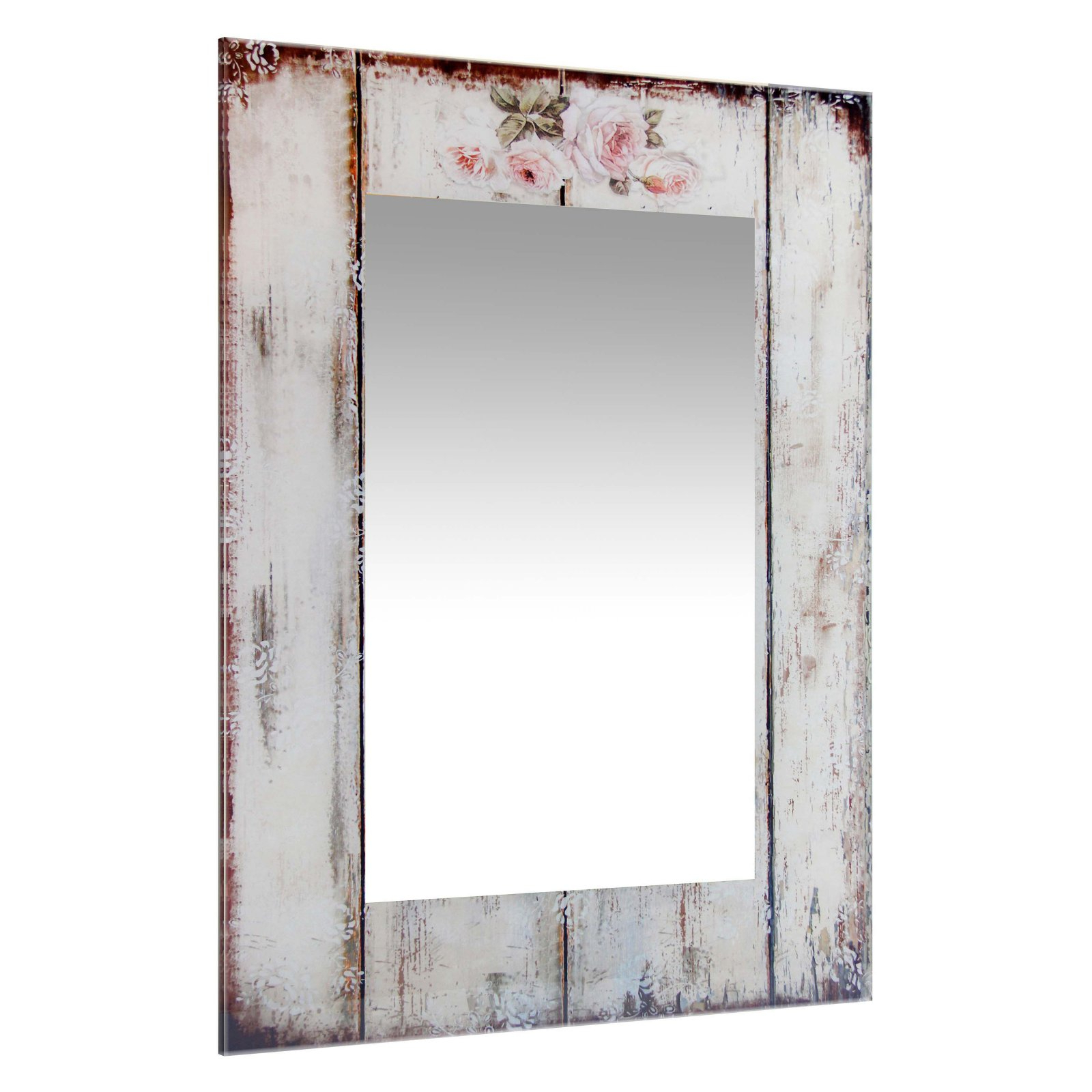 Infinity Instruments Shabby Chic Picket Fence Rectangle Wall Mirror –  19.75W X 27.5H In (View 6 of 20)