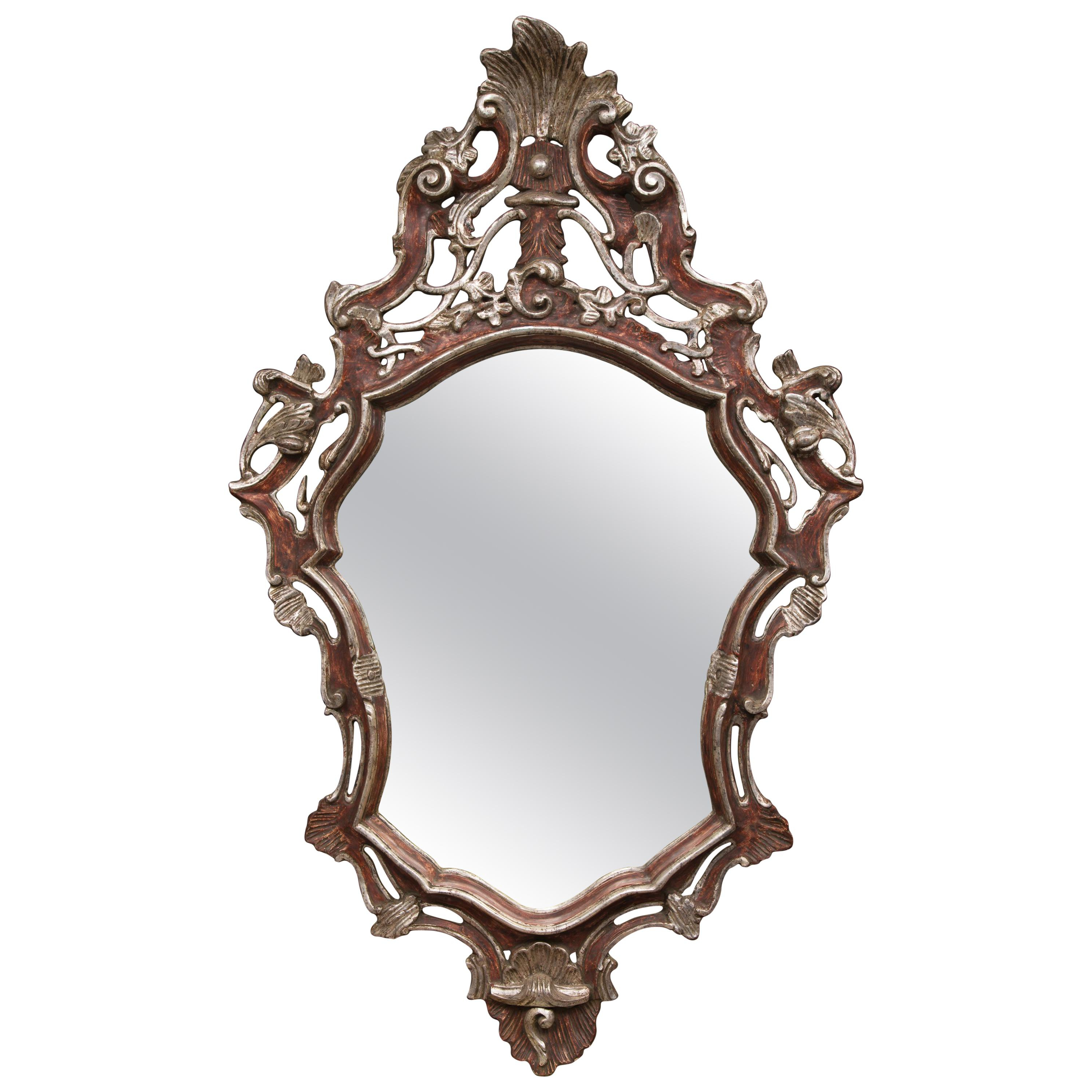 Italian Baroque Style Parcel Silver Gilt Wall Mirror In Well Liked Baroque Wall Mirrors (View 7 of 20)