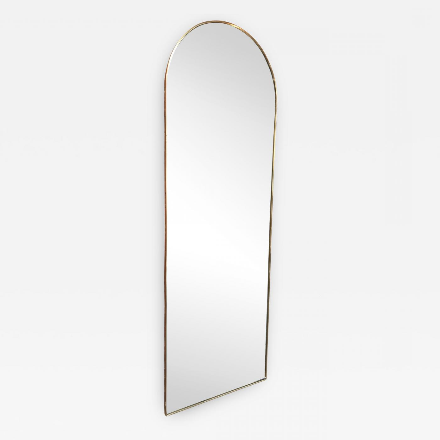 Italian Vintage Arched Shaped Brass Wall Mirror, 1950S In Most Current Arched Wall Mirrors (Gallery 18 of 20)